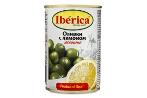 Оливки фаршировані лимоном Iberica з/б 280г