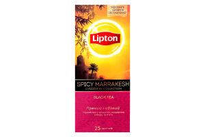 Чай Lipton Spicy Marrakesh чорний з ароматом мандарина апельсина маракуї імбиру 25 пакетиків