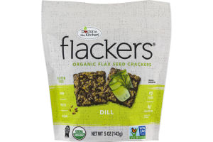 Doctor in the Kitchen Flackers Organic Flax Seed Crackers Dill