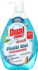 Гель для миття посуду концентрований Сода та шавлія Dual Power 1000мл