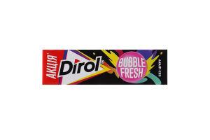 Резинка жевательная без сахара со вкусом фруктов и мяты Bubble fresh Dirol м/у 14г