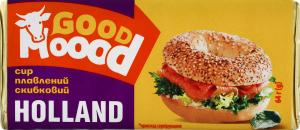 Сир плавлений 40% скибковий Holland Good Moood м/у 64г