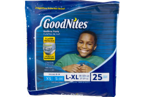 GoodNites Bedtime Pants L-XL - 25 CT