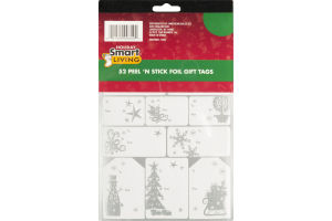 Holiday Smart Living Peel 'N Stick Foil Gift Tags - 52 CT
