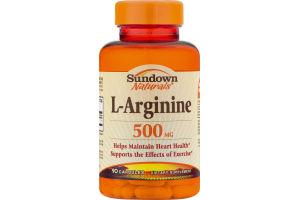 Sundown Naturals L-Arginine 500mg Dietary Supplement Capsules - 90 CT
