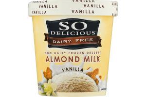 So Delicious Dairy Free Non-Dairy Frozen Dessert Almond Milk Vanilla