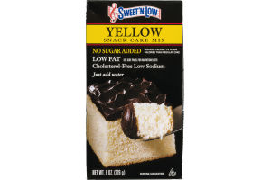 Sweet 'N Low Yellow Snack Cake Mix No Sugar Added Low aFat