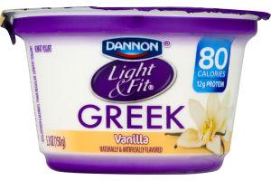 Dannon Light U0026 Fit Greek Yogurt Vanilla