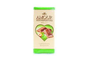 Шоколад Конти Amour молочный дробл фундук 100г