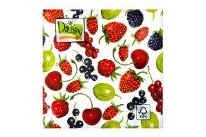 Салфетки Daisy с рисунком бумажная 3-слойная D-21