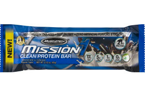 MuscleTech Mission 1 Clean Protein Bar Cookies & Cream