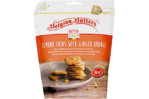 Belgian Butters Butter Biscuits Almond thins With Ginger Orange