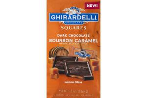 Ghirardelli Chocolate Squares Dark Chocolate Bourbon Caramel