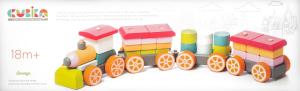 Іграшка дерев'яна Поїзд LP-1 CUBIKA