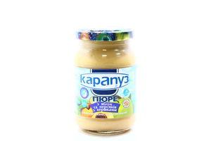 Пюре для детей от 4мес из яблок и персиков со сливками Карапуз с/б 200г
