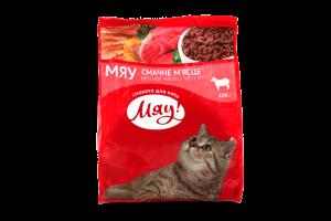 Корм сухой для взрослых котов Вкусное мяско Мяу! м/у 400г