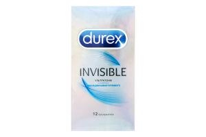 Презервативи Durex Invisible (ультратонкі) №12