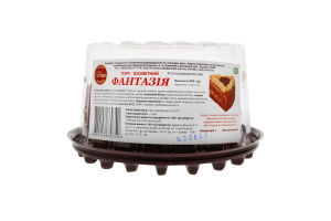 Торт бісквітний Фантазія Солодка Хата п/у 450г