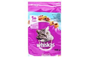 Корм сухой для взрослых котов с тунцом Whiskas м/у 950г