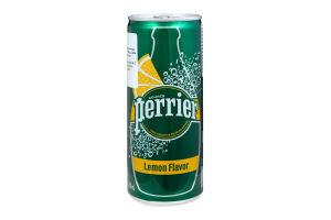Вода мінеральна зі смаком лимона Perrier з/б 0.25л