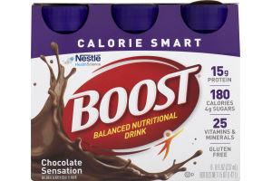 Boost Balanced Nutritional Drink Calorie Smart Chocolate Sensation - 6 CT