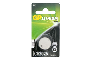 Батарейки GP 2025CR-U1шт, Lithium Cell