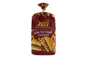Хлеб тостовый Солодовый Ново-Баварський хлібозавод м/у 250г