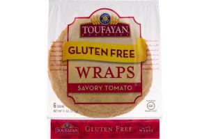 Toufayan Bakeries Gluten Free Wraps Savory Tomato - 6 CT