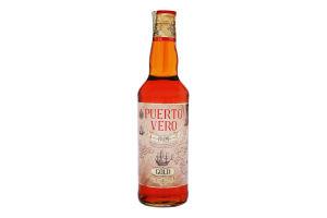 Напій алкогольний 0.5л 35% з ароматизатором Ром Gold Puerto Vero пл