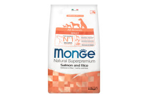 MONGE DOG All breeds Adult salmon & rice