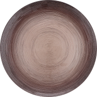 Тарелка ArdaCam Circle коричневая 28см