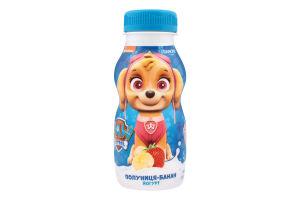 Йогурт 1.5% питний Полуниця-Банан Paw Patrol Danone п/пл 185г