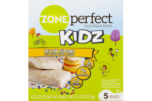 Zone Perfect Nutrition Bars Kidz Yellow Cupcake - 5 CT
