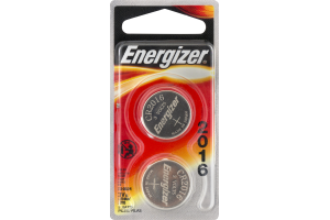 Energizer Lithium Batteries 2016 3V - 2 CT