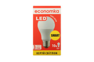 Лампа світлодіодна Economka LED A60 10W E27 2800K 1шт