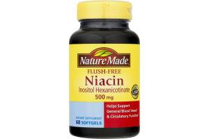 Nature Made Niacin Flush-Free Softgels - 60 CT