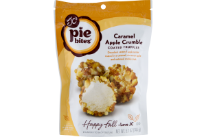 JC's Pie Bites Coated Truffles Caramel Apple Crumble