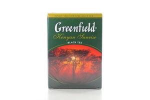 Чай черный листовой Kenyan Sunrise Greenfield к/у 100г
