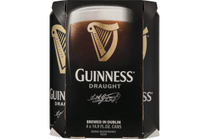 Guinness Draught Beer Cans - 4 CT