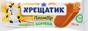 Морозиво 12% карамельне Пломбірна корівка Хрещатик м/у 75г