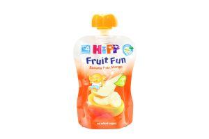 Пюре для детей от 4мес Банан-Груша-Манго Fruit Fun Hipp туб 90г