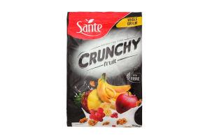 Хлопья овсяные с фруктами Crunchy Sante м/у 350г