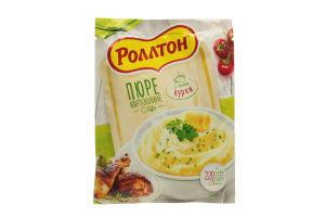 Пюре быстрого приготовления картофельное со вкусом курицы Роллтон м/у 37г