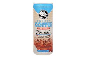Кофе холодный с молоком Bourbon Vanilla Slim latte Hell Energy Drink ж/б 250мл