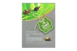 Маска для лица тканевая Snail Gold Entel 20мл