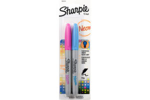 Sharpie Fine Permanent Marker Neon - 2 CT