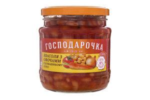 Фасоль с овощами в домашнем соусе Господарочка с/б 460г