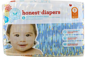 The Honest Co. Honest Diapers King of the Jungle Size 3 - 34 CT