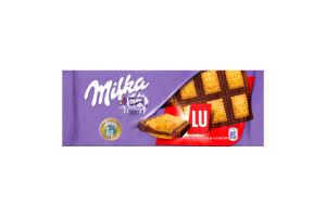 Шоколад з печивом LU Milka 87г
