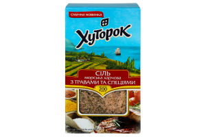 Сіль морська зі спеціями та травам 200г Хуторок